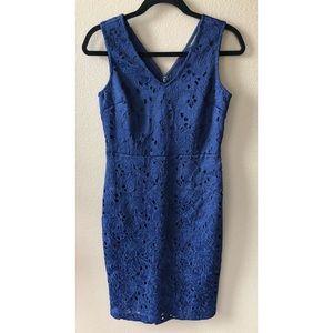 NWT Banana Republic Navy Blue Lace Sheath Dress